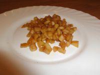 Karamellisierte Apfelstücke.