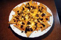 Überbackene Tortillas mit verbrannten Hackfleisch