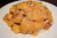 Tofu-Mango-Erdnuss-Curry (und Banane)