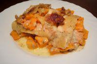 Kürbis-Lachs-Lasagne