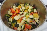 Zerkleinertes Gemüse
