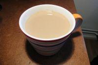 Masala Chai Tee ohne ohne Milchschaum.