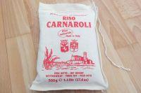 Das Wichtigste bei Risotto ist richtiger Rundkornreis! Hier zu sehen: original italienischer Carnaroli, hübsch in Säckchen verpackt.