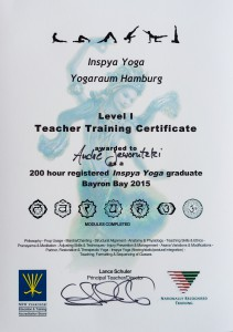 Yoga Teacher Training Certificate 200 Hour with Lance Schuler
